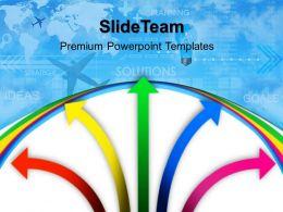 Business Flow Charts Powerpoint Templates Arrows Background Diagram Ppt Slides