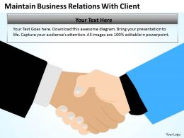 Business Flow Charts Relations With Client Powerpoint Templates PPT Backgrounds For Slides 0515