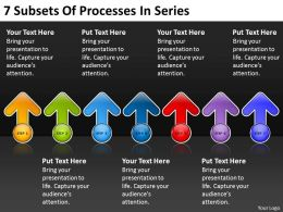 Business Flow Charts Subsets Of Processes Series Powerpoint Templates PPT Backgrounds For Slides
