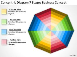 Business Flow Diagram 7 Stages Concept Powerpoint Templates PPT Backgrounds For Slides 0522
