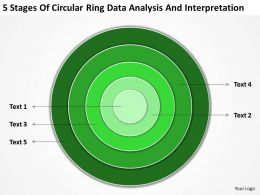 Business Flow Diagram Example Circular Ring Data Analysis And Interpretation Powerpoint Templates