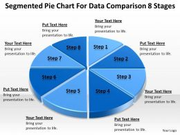 Business Flow Diagram Example Pie Chart For Data Comparison 8 Stages Powerpoint Templates