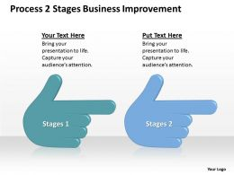 Business Flow Diagram Example Process 2 Stages Improvement Powerpoint Slides 0515
