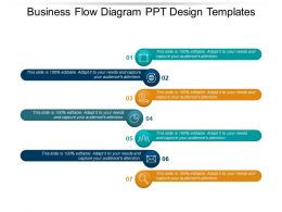 Business Flow Diagram Ppt Design Templates