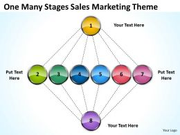 Business Flow Diagram Stages Sales Marketing Theme Powerpoint Templates Ppt Backgrounds For Slides 0523