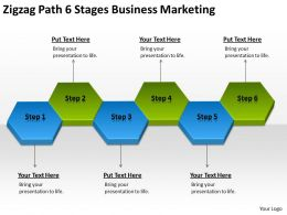 Business Flow Diagrams 6 Stages Marketing Powerpoint Templates PPT Backgrounds For Slides 0522