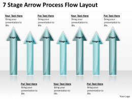 Business Flow Diagrams 7 Stage Arrow Process Layout Powerpoint Templates