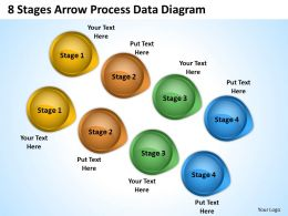 Business Flow Diagrams 8 Stages Arrow Process Data Powerpoint Templates
