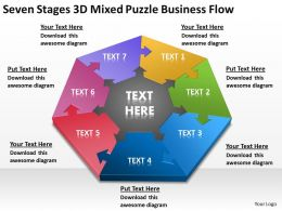 Business Flow Diagrams Mixed Puzzle Powerpoint Templates PPT Backgrounds For Slides 0515