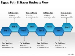 Business Flow Diagrams Path 8 Stages Powerpoint Templates PPT Backgrounds For Slides 0522