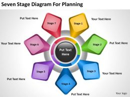 Business Flow Diagrams Stageddiagram For Planning Powerpoint Templates PPT Backgrounds Slides 0515
