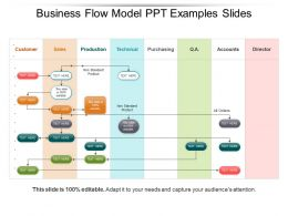 Business Flow Model Ppt Examples Slides