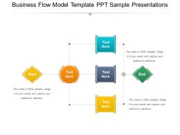 Business Flow Model Template Ppt Sample Presentations
