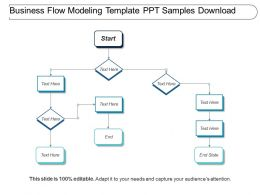 Business Flow Modeling Template Ppt Samples Download