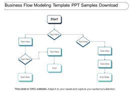 Business Flow Modeling Template Ppt Samples Download