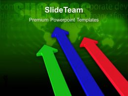 Business Flow Presentations Templates First Arrow Competition Company Ppt Powerpoint