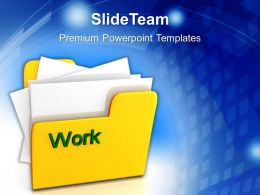 Business Flow Presentations Work Powerpoint Templates And Themes Computer Storage
