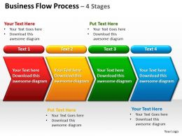 business flow process 4 stages powerpoint diagrams presentation slides graphics 0912