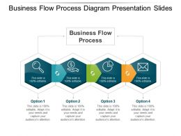 Business Flow Process Diagram Presentation Slides
