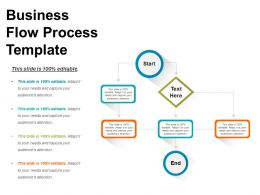 Business Flow Process Template Sample Presentation Ppt
