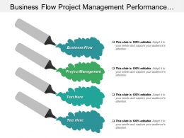 Business Flow Project Management Performance Management Project Management Cpb