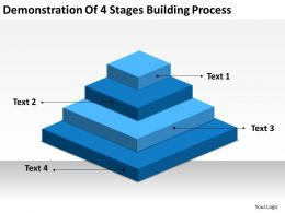 Business Flowchart Demonstration Of 4 Stages Building Process Powerpoint Slides