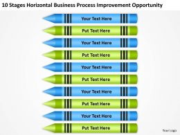 Business Flowchart Examples Horizontal Process Improvement Opportunity Powerpoint Slides