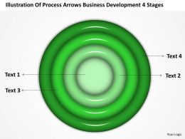 Business Flowchart Illustration Of Process Arrows Development 4 Stages Powerpoint Slides