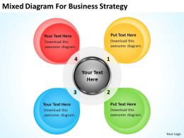 Business Flowchart Mixed Diagram For Strategy Powerpoint Slides 0515