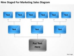 Business Flowchart Nine Staged For Marketing Sales Diagram Powerpoint Slides 0515