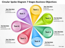 Business Flowchart Stages Objectives Powerpoint Templates PPT Backgrounds For Slides