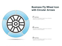 Business Fly Wheel Icon With Circular Arrows