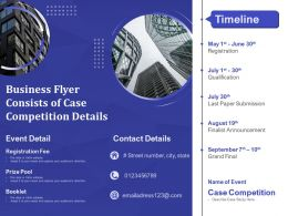 Business Flyer Consists Of Case Competition Details