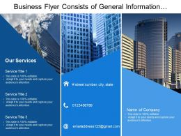Business Flyer Consists Of General Information With Service Details