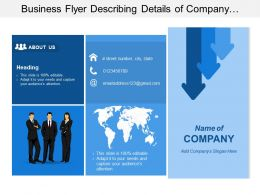 Business Flyer Describing Details Of Company Includes Contact Detail And Services