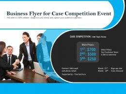 Business Flyer For Case Competition Event