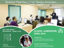 Business Flyer For School Service Promotion Includes Contact And Service Details