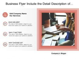 Business Flyer Include The Detail Description Of Services Of Company