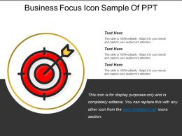 Business Focus Icon Sample Of Ppt