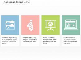 Business Folders Tie Pie Chart Laptop Ppt Icons Graphics