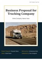 Business For Trucking Company Proposal Example Document Report Doc PDF Ppt
