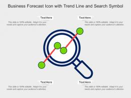 Business Forecast Icon With Trend Line And Search Symbol