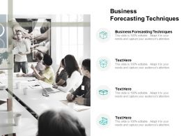 Business Forecasting Techniques Ppt Powerpoint Presentation Gallery Background Cpb