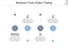 Business Forex Online Trading Ppt Powerpoint Presentation Model Influencers Cpb