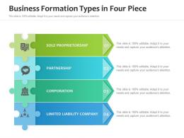 Business Formation Types In Four Piece