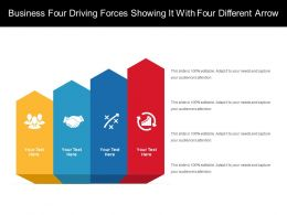 Business Four Driving Forces Showing It With Four Different Arrow