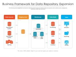 Business Framework For Data Repository Expansion