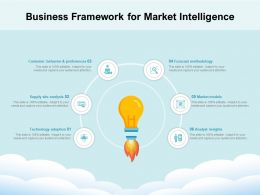 Business Framework For Market Intelligence