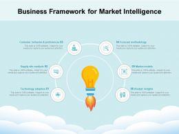 Business Framework For Market Intelligence