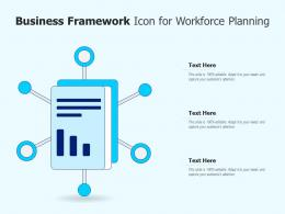 Business Framework Icon For Workforce Planning